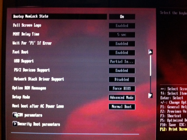 BIOS Update(CAP): reboot and select proper boot device or insert