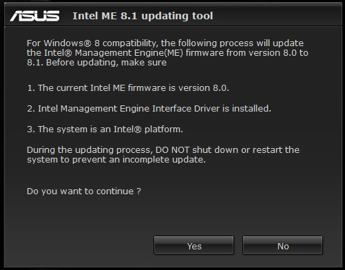 Update ME interface firmware - 8 1 0 1248 - Page 5