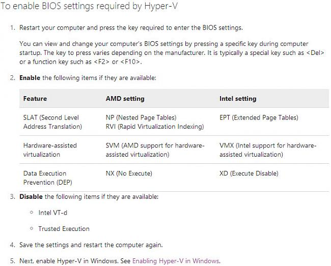 G75VW Hyper-V: Virtualization support is disabled in the firmware