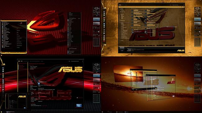 Tutorial: how to install asus republic of gamers theme (windows 7.