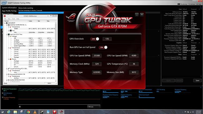 Is 70c hot for G750JS-TS71 motherboard on load?