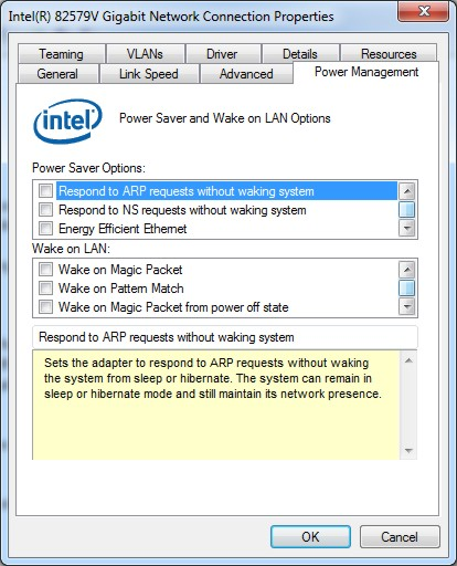 network card doesn't work from cold boot but will after reboot