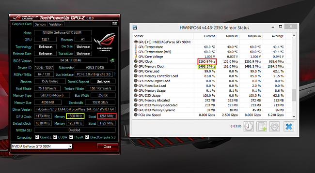 Overclocking the i7-4710HQ on a G751JY and issues