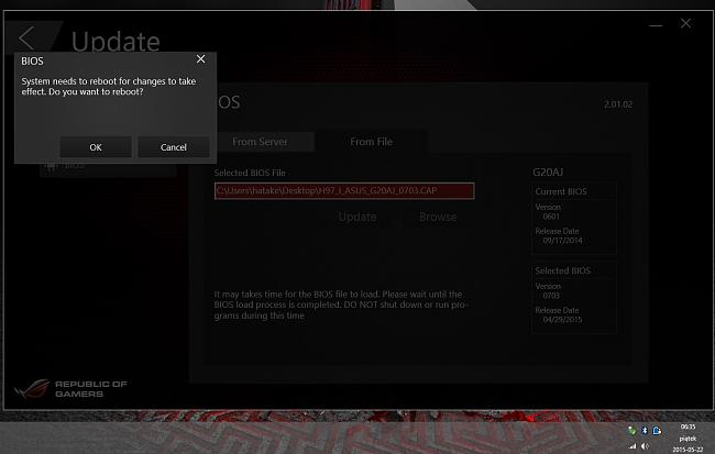 Asus ROG G20AJ new BIOS update 0601 => 0703
