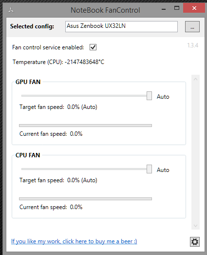 Notebook fancontrol problem