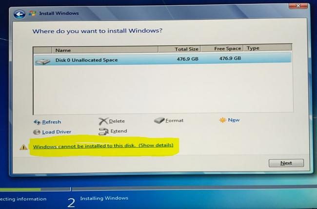 How to boot windows from you m 2 SM 951 on Asus Maximuss