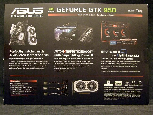 Review: ASUS GTX950 Unplugged for low power PCs