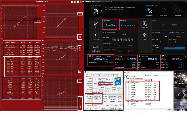 OC i7 5960X on an Asus X99-DELUXE to 4500MHz (4 5GHz)