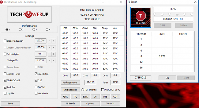 G752VS :: Lowered CPU voltage in BIOS = no more throttling