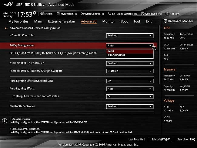 Rampage V Edition 10 not recognizing Intel SSD 6 M 2 NVMe