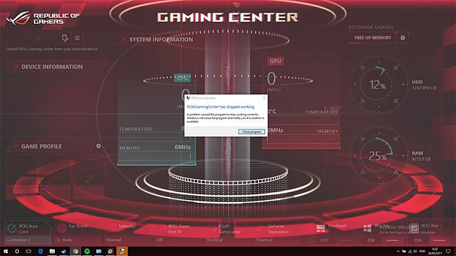 Problem with ROG Gaming Center