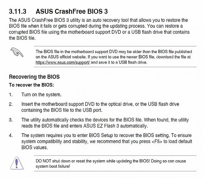 asus crashfree bios 3 utility usb download