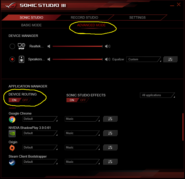 problem with splitting audio devices on SupremeFX on Maximus