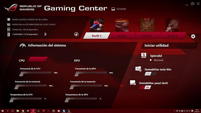ROG Gaming Center issues after clean installation