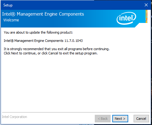A new update for the ME Drivers  and a bios ME DRIVER????