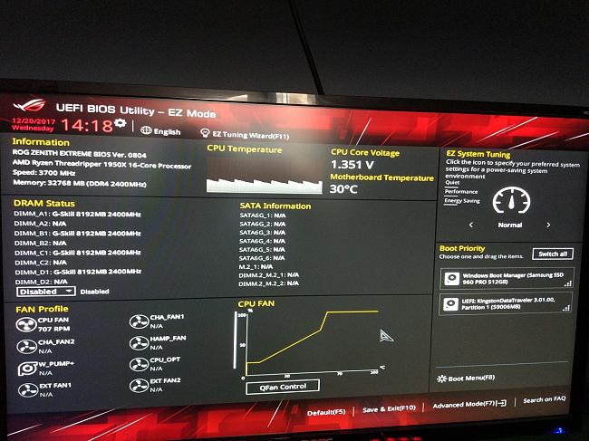 Need help, Asus zenith extreme + samsung nvme 960 pro