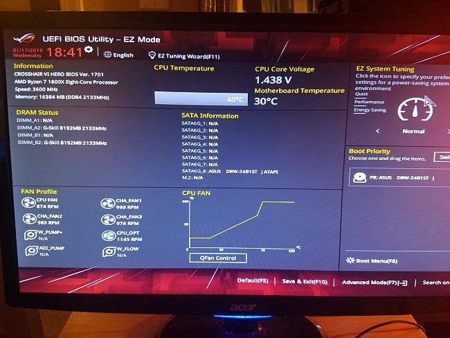 New Pc Build Cant Get To Bios