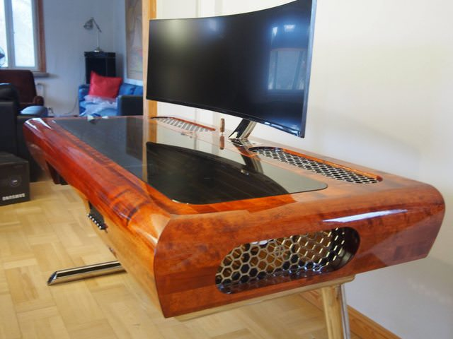 Mahogany Desk Pc Build Art Deco Inspired Dreambuild