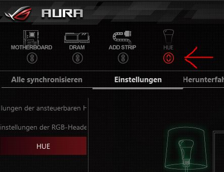 ASUS Aura - How to UNSYNC the Philips Hue control???