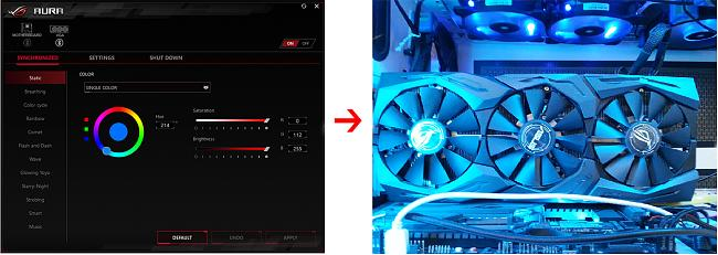GTX 1080ti STRIX LED Problem