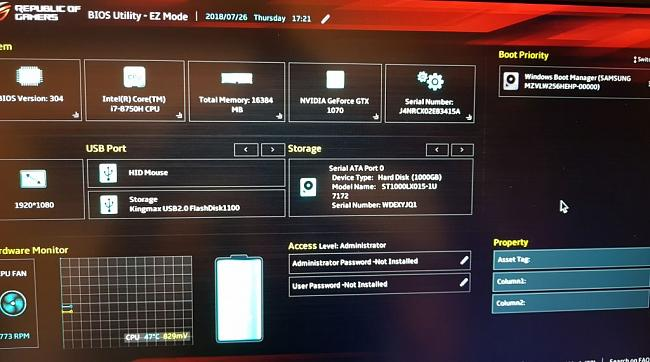 Very big dual-boot problem with Asus ROG Strix GL703GS SCAR