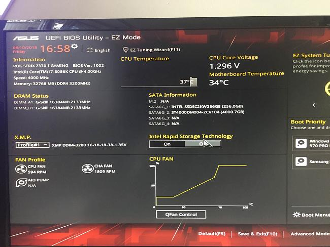 Samsung 970Pro M 2 SSD not showed in BIOS (But works!)