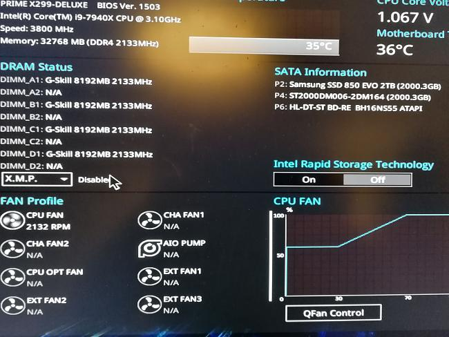 Asus PRIME X299-DELUXE: how enable X M P  in the BIOS      ?