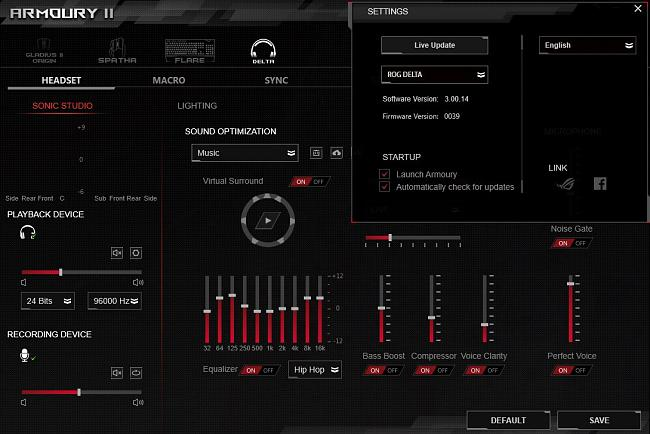 ROG Armoury II V3 00 14 incorporates Sonic Studio [Report any issues