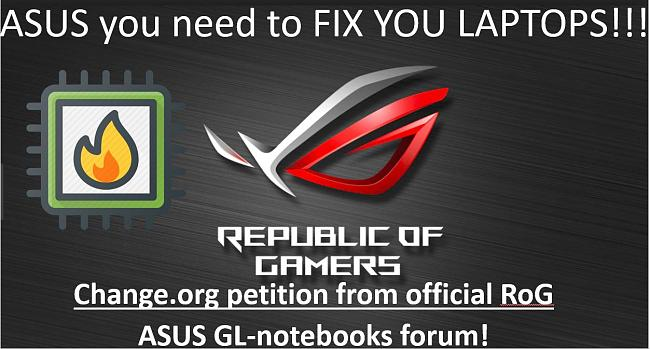 Letter to ASUS for addressing GL504 series problems [PLEASE SIGN]