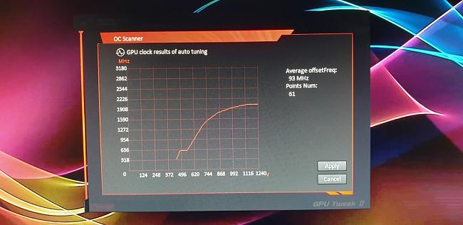 gtx1080ti strix oc: gpu tweak oc scanner function