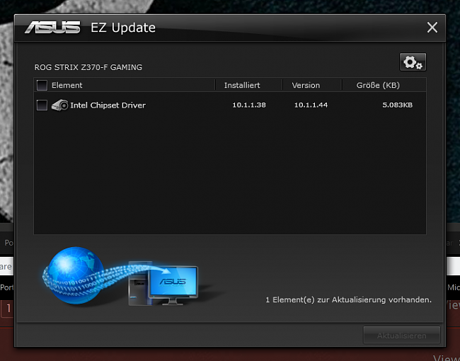 ASUS EZ UPDATE Back from the Dead - and now spamming chipset