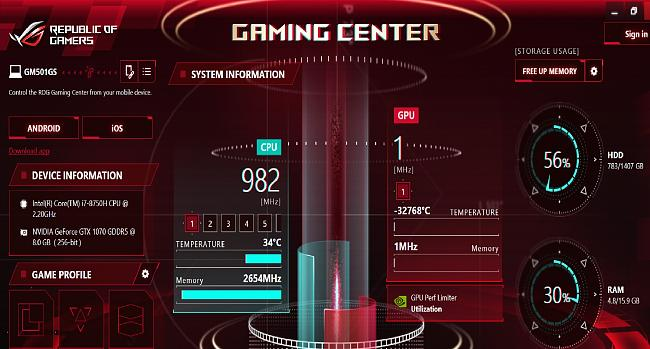 Gaming Centre showing wrong GPU information