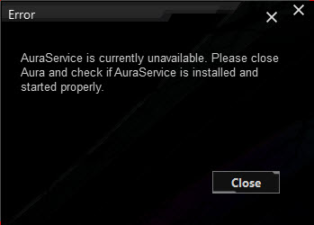 Aura 1 07 71 and earlier versions - Aura service is