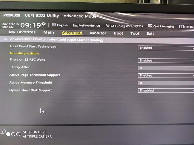 Help with G20AJ BIOS setting after bios reset
