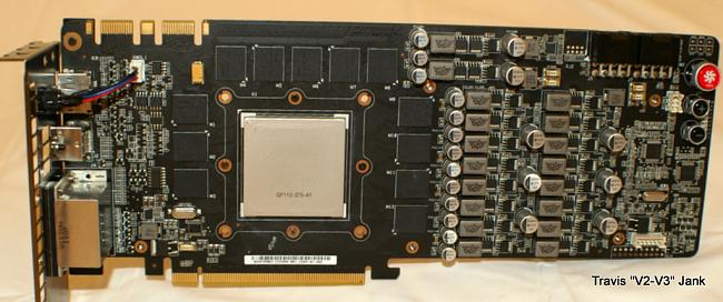 ASUS Matrix GTX 580 Platinum heat sinks removed and pictured naked