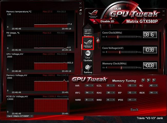 GPU Tweak Memory Tuning