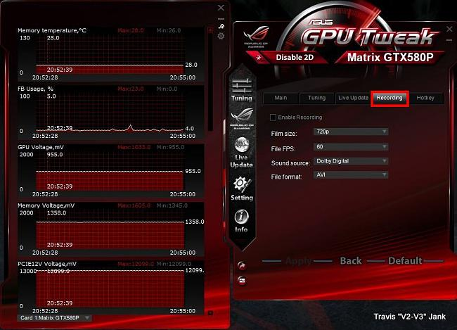 GPU Tweak Settings Recording.