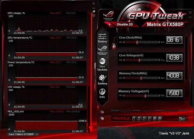 GPU Tweak Monitor Second Page