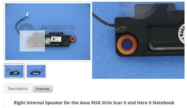 Click image for larger version.  Name:Right Internal Speaker for The Asus ROG Strix Scar II Notebook.jpg Views:0 Size:84.0 KB ID:81152