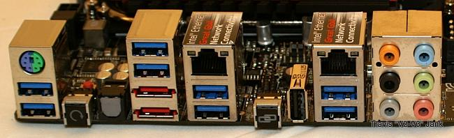 Maximus IV Extreme-z motherboard back panel I/O features