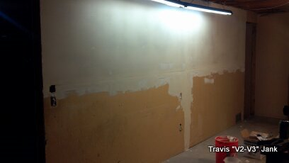 Wall paining dry wall mud coat