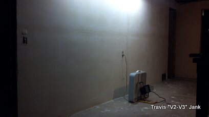 Wall paining dry wall mud coat completed for pre-paint preparation.