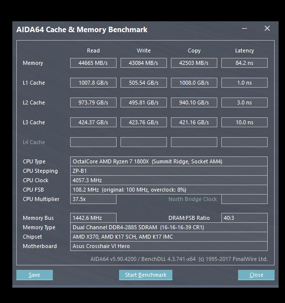 Click image for larger version.  Name:2885mhz RAM FASEST YET.JPG Views:165 Size:67.5 KB ID:63702