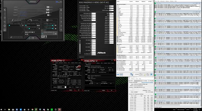 Click image for larger version.  Name:9900ks 5 ghz @ 1.26 v ( 1.24 v load )  4000 mhz ram ,  4.7 ghz cache prime 95 small ffts non avx.jpg Views:5 Size:1.04 MB ID:83111