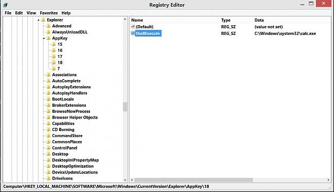 Click image for larger version.  Name:registry entry for calc hotkey.JPG Views:5 Size:103.7 KB ID:49037