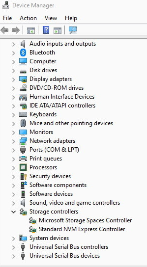 Click image for larger version.  Name:Device Manager Standard NVM Express Controller.jpg Views:118 Size:103.1 KB ID:88077