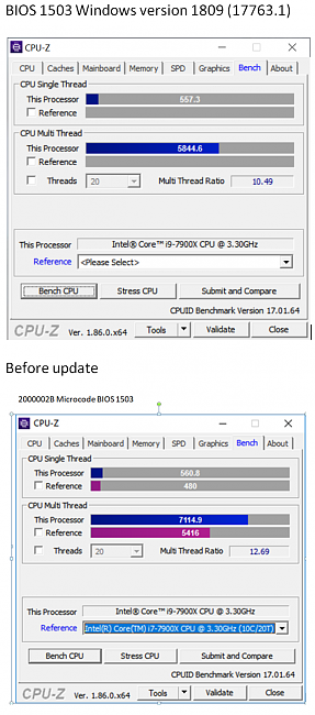 Click image for larger version.  Name:Microsoft update 1809 Cpuz benchmark.PNG Views:3 Size:376.8 KB ID:76107