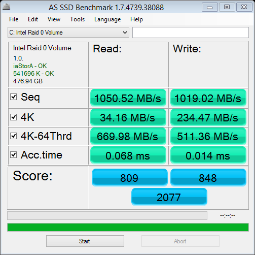 Click image for larger version.  Name:as-ssd-bench Intel Raid 0 Vol 12.27.2013 10-43-07 AM.png Views:46 Size:29.4 KB ID:31644