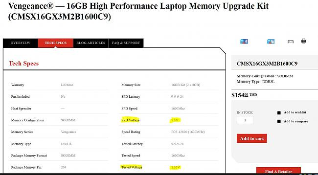 Click image for larger version.  Name:corsair 1600 actually runs at SPD 1.5v in G750 and G751 not Tested voltage of 1.35v.JPG Views:5 Size:135.1 KB ID:49323