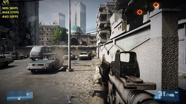 Click image for larger version.  Name:g74sx 560tim bf3 High preset 1280x720.jpg Views:985 Size:339.2 KB ID:4412